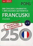 250 ćwiczeń z gramatyki Francuski + 250 zagadek