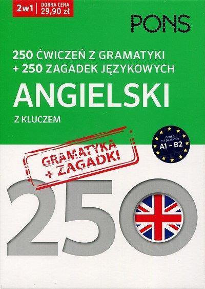 250 ćwiczeń z gramatyki Angielski + 250 zagadek