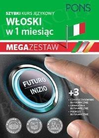 Szybki kurs Włoski w 1 miesiąc Mega Zestaw: Kurs + tablice: czasy i czasowniki, gramatyka, podróże