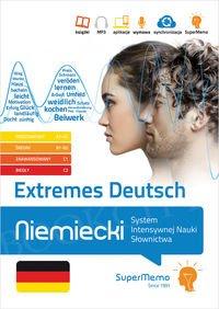 Extremes Deutsch Niemiecki System Intensywnej Nauki Słownictwa (poziom podstawowy A1-A2, średni B1-B2, zaawansowany C1 i biegły C2) Książka + kod dostępu